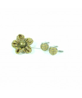 Yellow Label Pin and Cufflinks