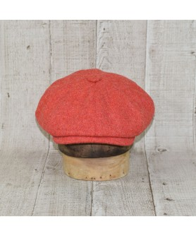 Set Sapca Model Newsboy Cu Fular Light Coral Peaky Blinders