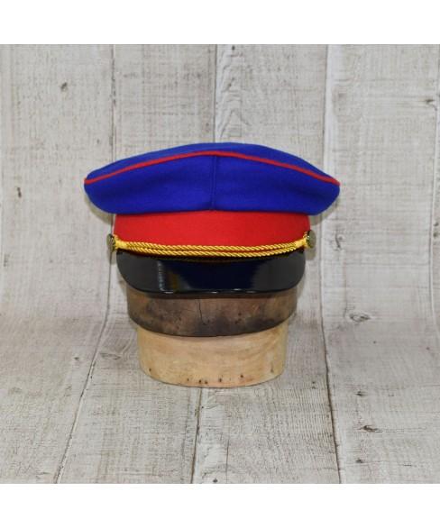 Sapca Model Prusac Albastru Regal Cu Vipusca Rosie