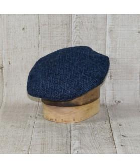 Sapca Model Clasic Herringbone Negru Cu Albastru