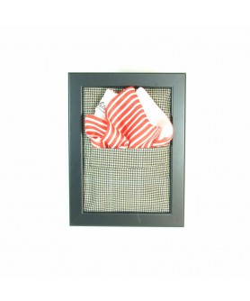Red White Line Pocket
