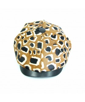 LIMITED EDITION - Sapca Model Gavroche Animal Print Maro cu Negru