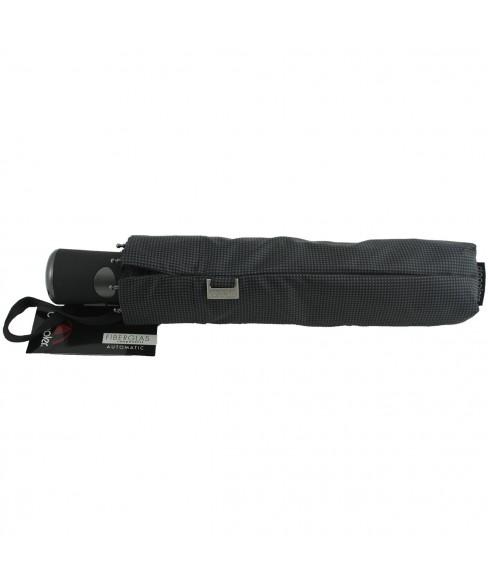 Umbrela Ploaie Barbateasca Doppler Alu-FiberGlas Negru cu Patratele 730167