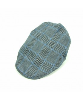 Blue and Brown Flat Cap