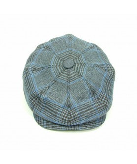 Blue and Brown Gavroche Cap Peaky Blinders
