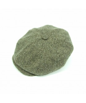 Beige and Brown Gavroche Cap