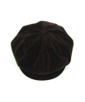 Brown Velvet Gavroche Cap