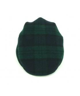 Sapca Plata Carou Verde cu Bleumarin