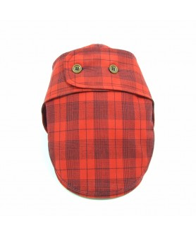 Red and Navy Blue Komitka Kapa Cap