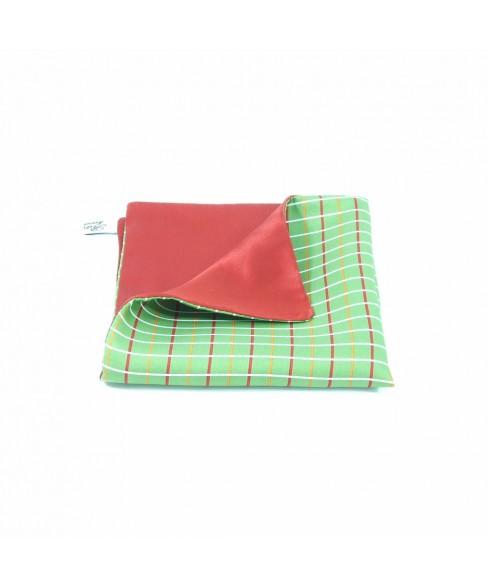 Batista Buzunar Rosu cu Verde