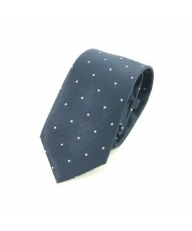 Cravata Bleumarin cu Alb