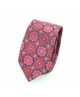 Cravata Roz cu Negru