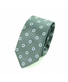 Cravata Gri cu Flori