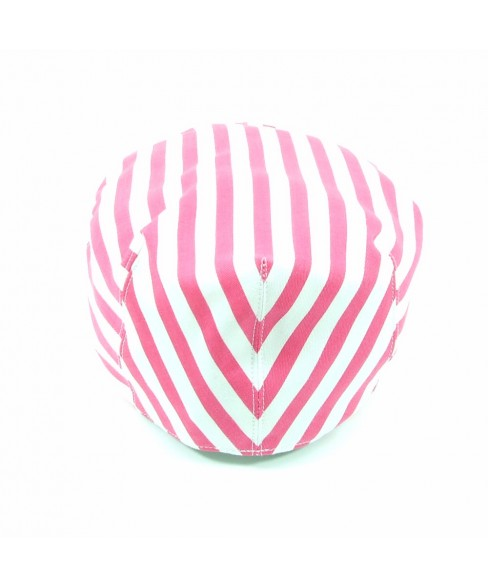 Pink and White Flat Cap