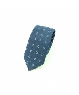 Cravata Bleumarin cu Print Floral