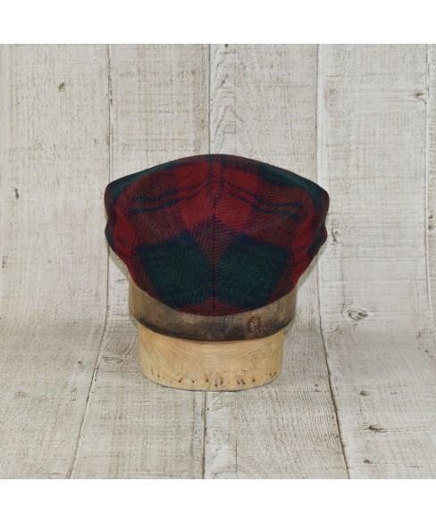 Sapca Model Tweed Clasic Carou Rosu Inchis Cu Verde Inchis