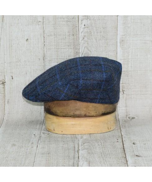 Sapca Model Clasic Herringbone Albastru Carou Maro Cu Ocru