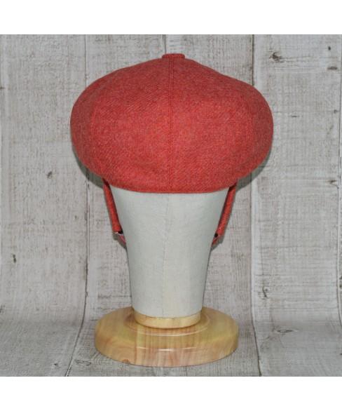 Set Sapca Model Newsboy Peaky Blinders Cu Masca Fashion Rosu Coral