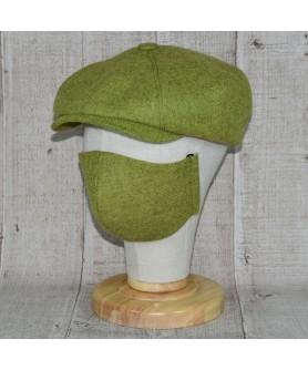 Set Sapca Model Newsboy Peaky Blinders Cu Masca Fashion Verde Olive