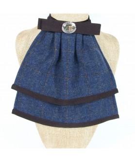 Jabou Dama Carou Albastru cu Maro - Colectia Ralitza Luxury
