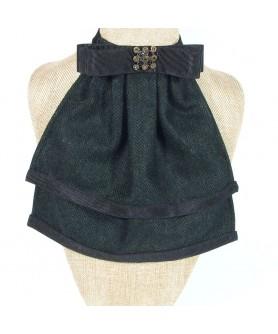 Jabou Dama Herringbone Verde cu Negru - Colectia Ralitza Luxury