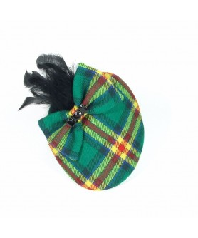 Tartan Feathered Veil with Red Hunting