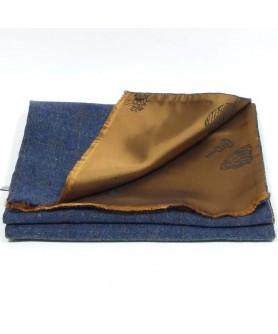 Fular Carou Albastru cu Bej - Colectia Ralitza Luxury