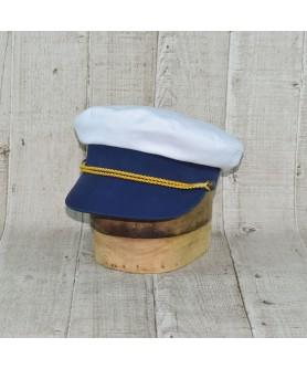 Sapca Model Capitan De Vas Alb Cu Bleumarin