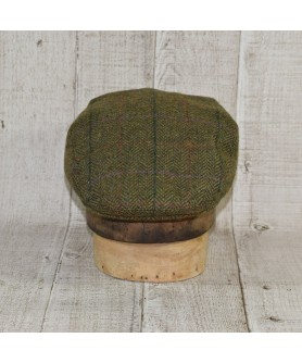 Sapca Model Clasic Herringbone Verde Cu Bej