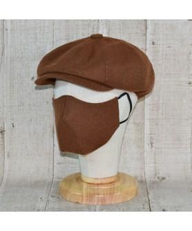 Set Sapca Model Newsboy Peaky Blinders Cu Masca Fashion Maro