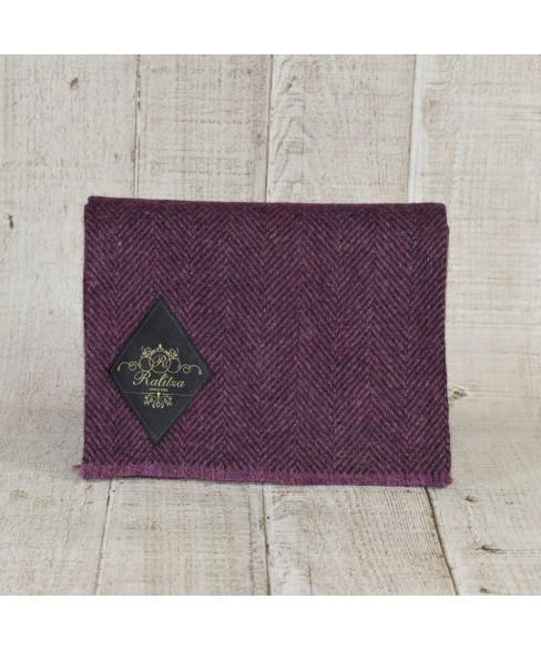 Fular Herringbone Tweed Purple Cu Maro