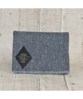 Fular Slate Tweed Bleu Cu Kaki