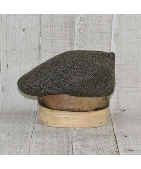 Sapca Model Clasic Herringbone Harris Tweed Kaki