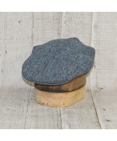 Sapca Model Clasic Slate Tweed Bleu Cu Kaki