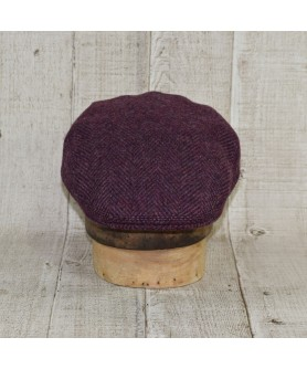 Sapca Model Clasic Tweed Purple Cu Maro