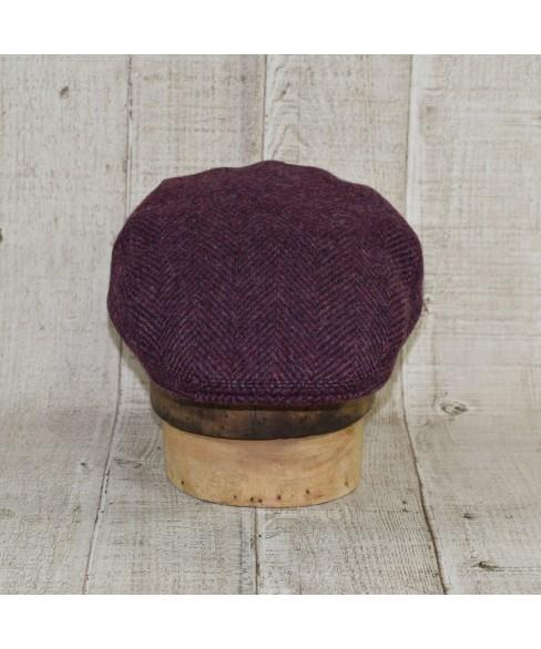 Set Sapca Model Clasic Cu Fular Herringbone Purple Cu Maro
