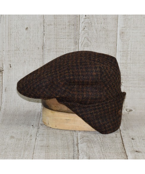 Sapca Model Komitka Kapa Tweed Maro Cu Negru