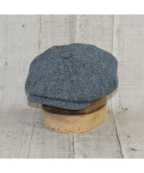 Sapca Model Newsboy Peaky Blinders Slate Tweed Bleu Cu Kaki