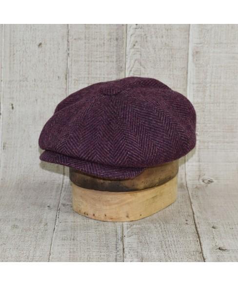 Set Sapca Model Newsboy Cu Fular Herringbone Purple Cu Maro Peaky Blinders