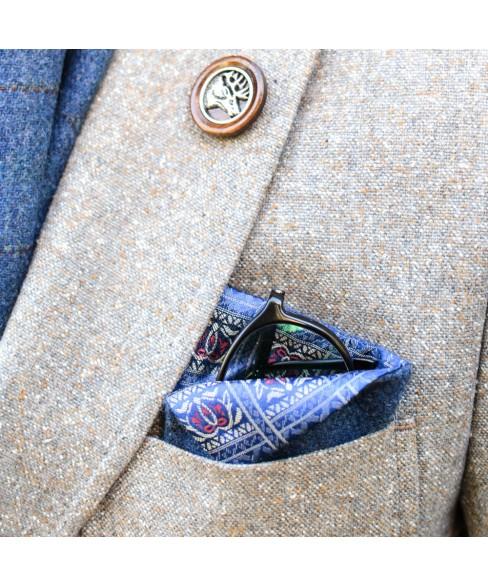 Pin de Rever Lemn Cap de Cerb cu Metal Comun