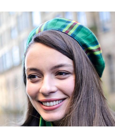 Set Dama Basc Carou Verde Cu Rosu si Galben