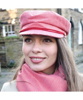 Greekfish Cap Lady Sack With Classic Red And White